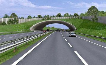 300 Meter lang soll der Tunnel werden, auf dessem Dach die Porphyrkuppenlandschaft nachgebildet werden soll. (Quelle: Deges)